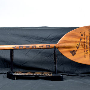 outrigger paddle with engraving